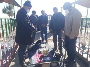 غباروبی مزارشهدای روستای سیه لاخ